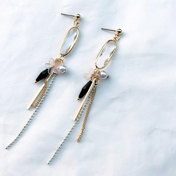Schön Legierung Frauen Art-Ohrringe