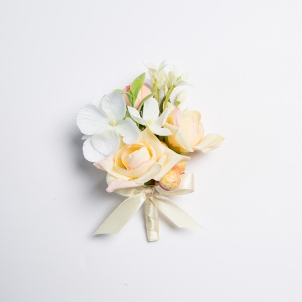 Pretty Free-Form Satin/Fabric Boutonniere (Sold in a single piece) -