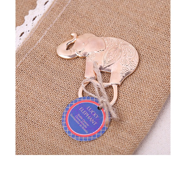 Lovely Elephant Zinc Alloy Bottle Openers With Tag (Set of 20)