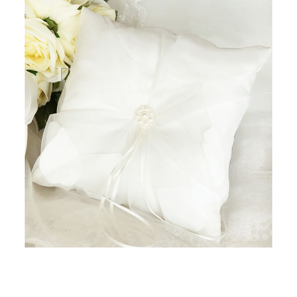 Elegant Ring Pillow in Silk