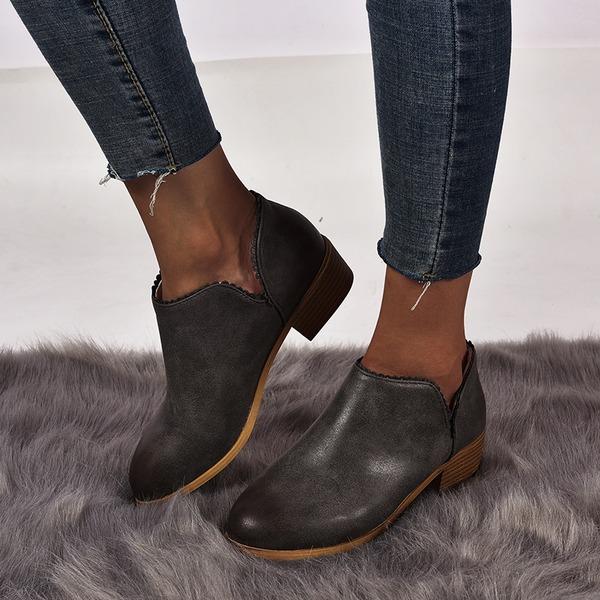 Kvinder Ruskind Stor Hæl Ankelstøvler sko