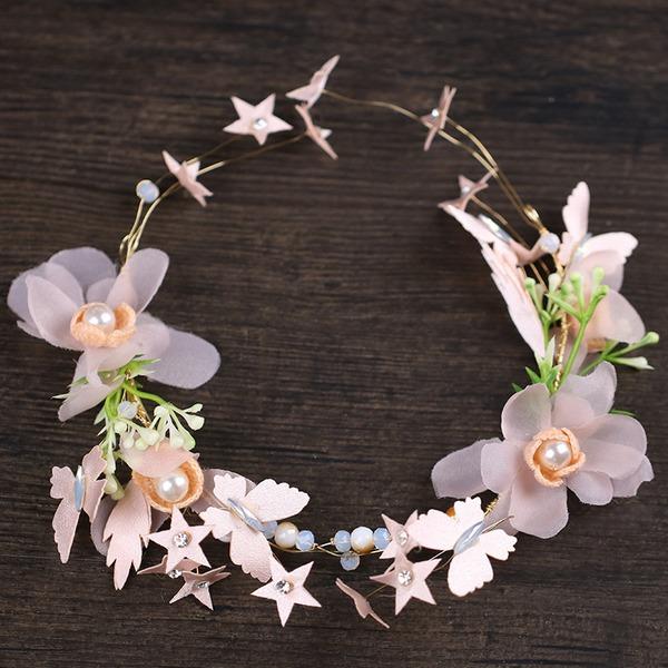 Damen Hübsche Seide Blumen Stirnbänder mit Strass