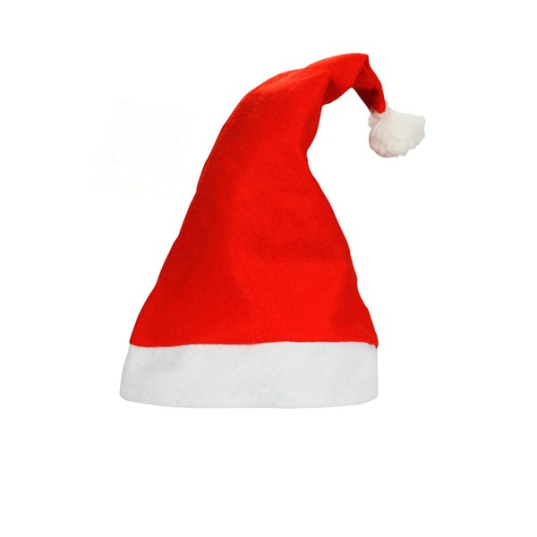 Red Felt Christmas Santa Hats Happy New Yer (Sold in a single piece)