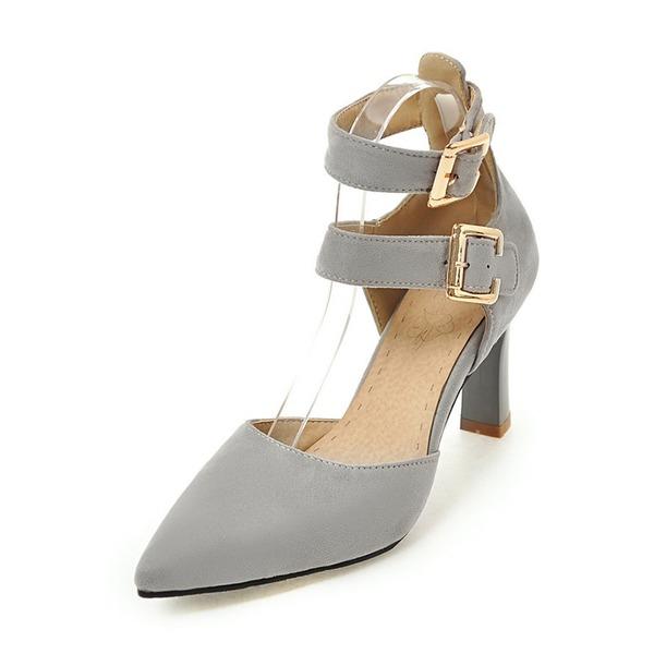 Vrouwen Kunstleer Stiletto Heel Sandalen Pumps Closed Toe Mary Jane met Gesp schoenen
