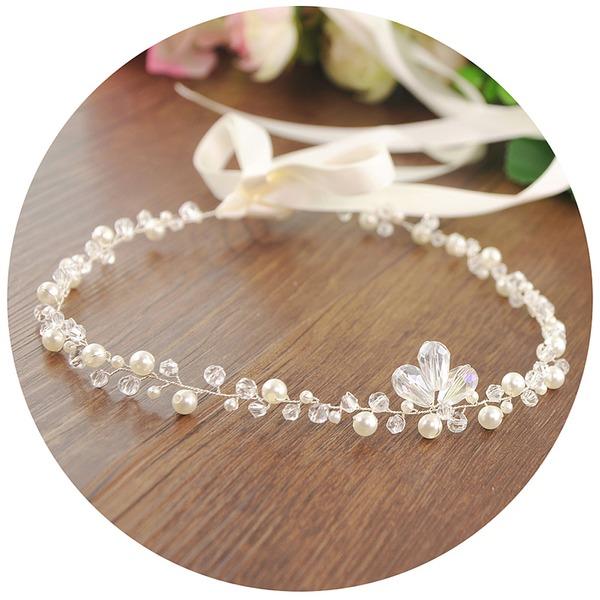 Señoras Glamorosa La perla de faux Diademas (Se venden en una sola pieza)