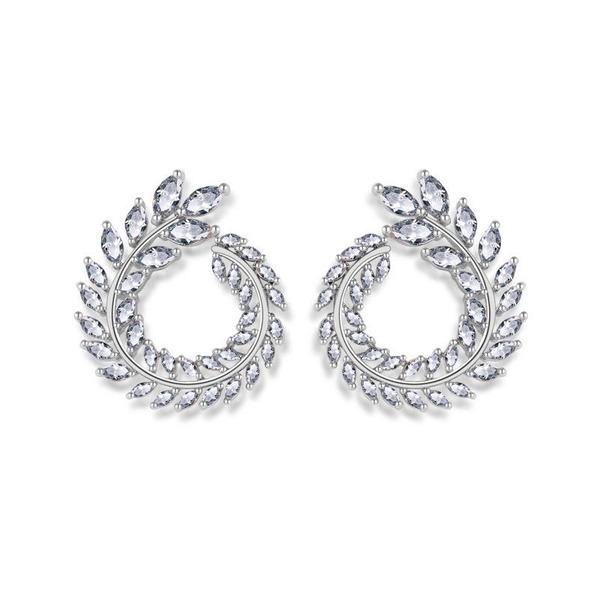Ladies' Sparking Copper/Cubic Zirconia Cubic Zirconia Earrings For Bride