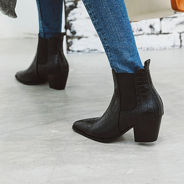 Women's PU Chunky Heel Ankle Boots Martin Boots With Others shoes