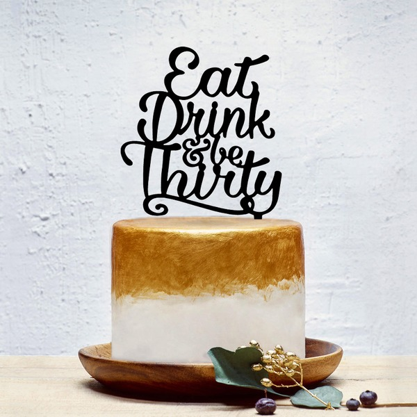 Classic Acrylic Cake Topper