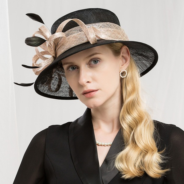 Dames Mode/Qualité/Romantique/Style Vintage Batiste avec Feather Chapeaux de type fascinator/Kentucky Derby Des Chapeaux/Chapeaux Tea Party