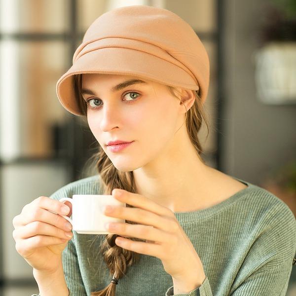 Damer' Glamorösa/Iögonfallande/tappning utformar polyester Diskett Hat