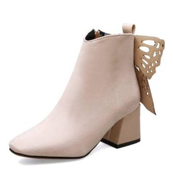Vrouwen Suede Chunky Heel Enkel Laarzen schoenen