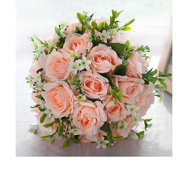 Girly de Rond Tissu Bouquets de mariée/Bouquets de demoiselle d'honneur -