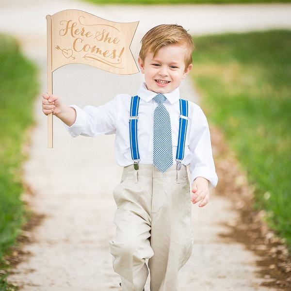 Yksinkertainen/Classic Kaunis/Houkutteleva Puinen Wedding Sign (Myyty yhtenä palana)
