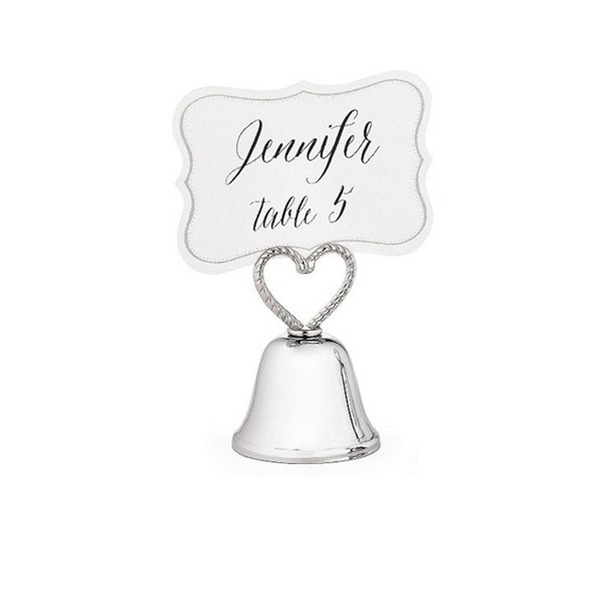"""Kissing Bells"" Place Card/Photo Holder"