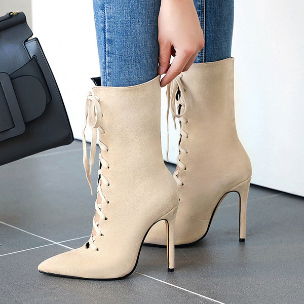 Suede Stiletto Heel Flats Wedges schoenen