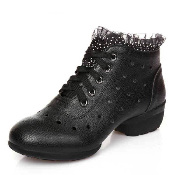 Kadın Suni deri Topuk Modern Dans Ayakkabıları
