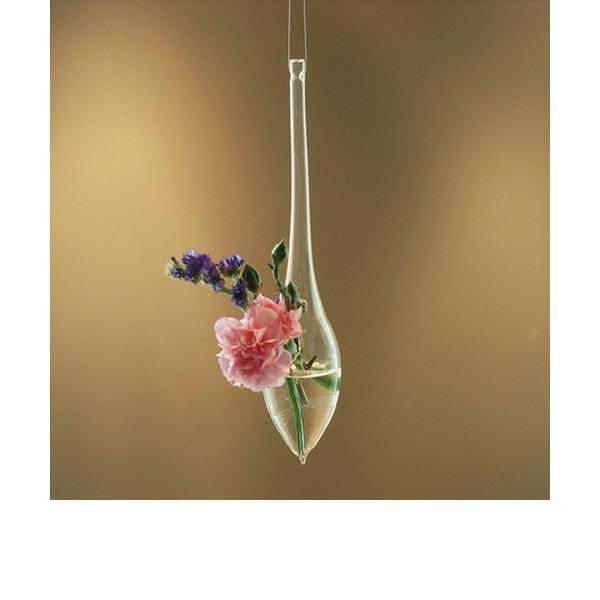 Elegant Hanging Water Drop Shaped Glass Vase