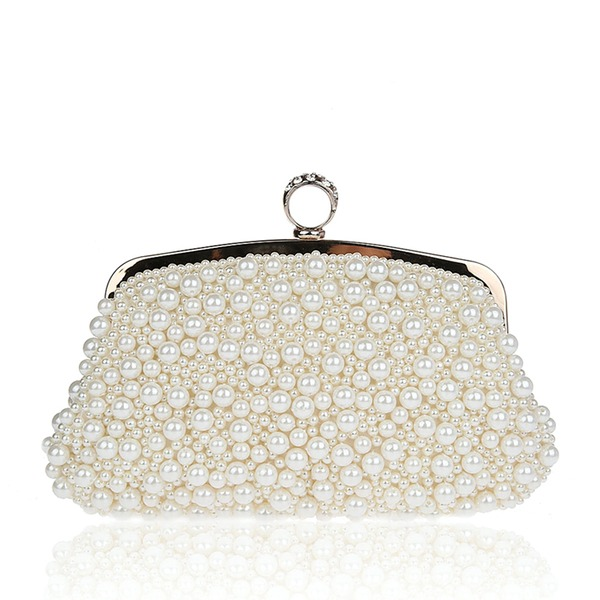 Elegant Perle Koblinger/Wristletter/Posevesker/Brude Pung/Mote Håndvesker/Makeup Vesker/Luksus Koblinger
