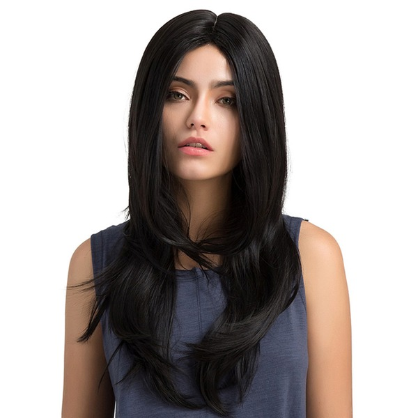 Wavy Mid-Length Long Synthetic Wigs (Sold in a single piece)