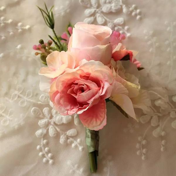 Attaché à la main Fleurs Artificielles Sets de fleurs ( ensemble de 2) - Corsage du poignet/Boutonnière