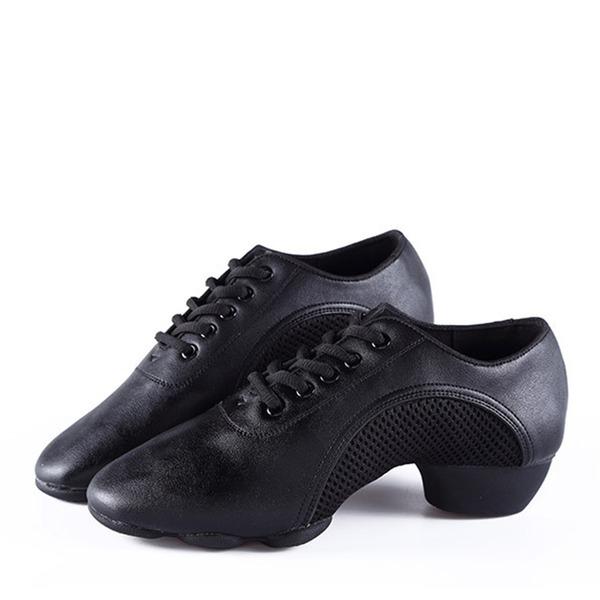 Misto Similpelle Sneakers Jazz Prova Scarpe da ballo