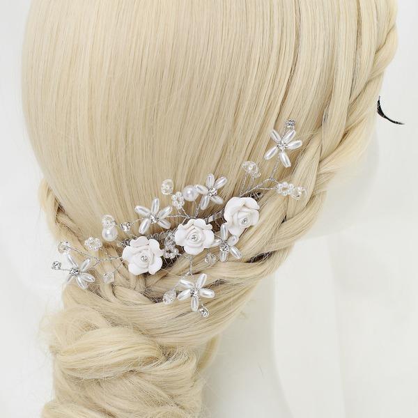 Elegante Lega/Perle d'imitazione/Di ceramica Pettine & clip di capelli