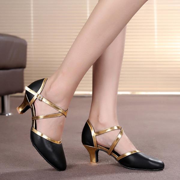 Donna Similpelle Tacchi Stiletto Sala da ballo con Listino alla caviglia Scarpe da ballo