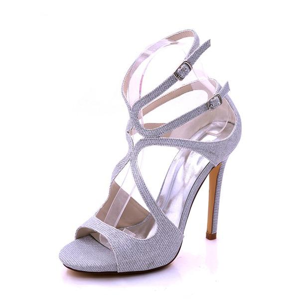 Vrouwen Sprankelende Glitter Stiletto Heel Plateau Pumps Sandalen met Anderen