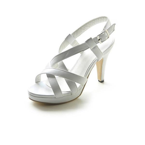 Vrouwen Kunstleer Stiletto Heel Sandalen Plateau Slingbacks met Gesp schoenen