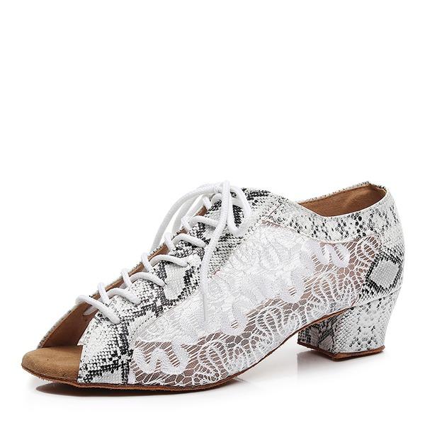 Kadın Örgü Topuk Pratik Dans Ayakkabıları