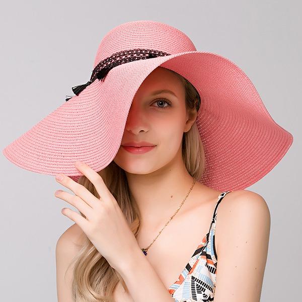 женские Элегантные Плетеная соломы Пляжные / солнцезащитные шлемы
