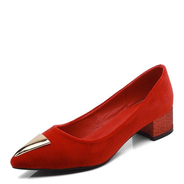 Femmes Suède Talon bas Escarpins Bout fermé avec Boucle chaussures