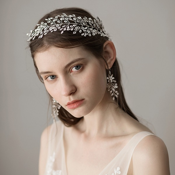 Ladies Fashion Imitation Pearls Headbands With Venetian Pearl (Sold in single piece)