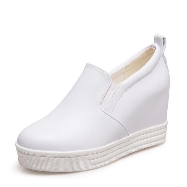 Frauen PU Keil Absatz Keile Schuhe