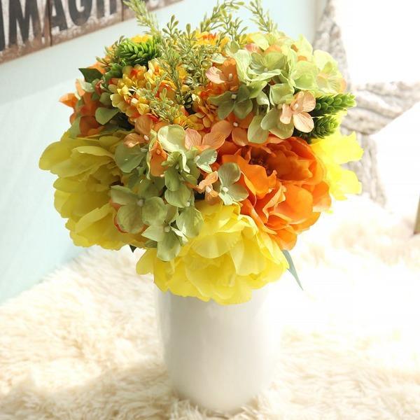 Charmant Forme libre Tissu Bouquets de demoiselle d'honneur/Décorations -