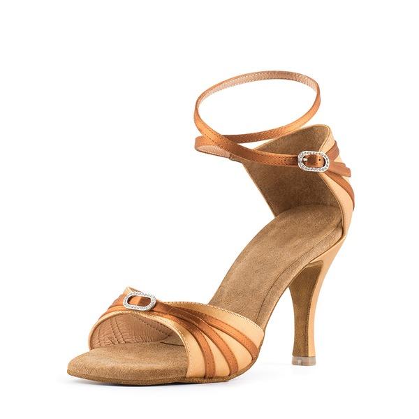 Cetim Sandálias Latino Sapatos de dança
