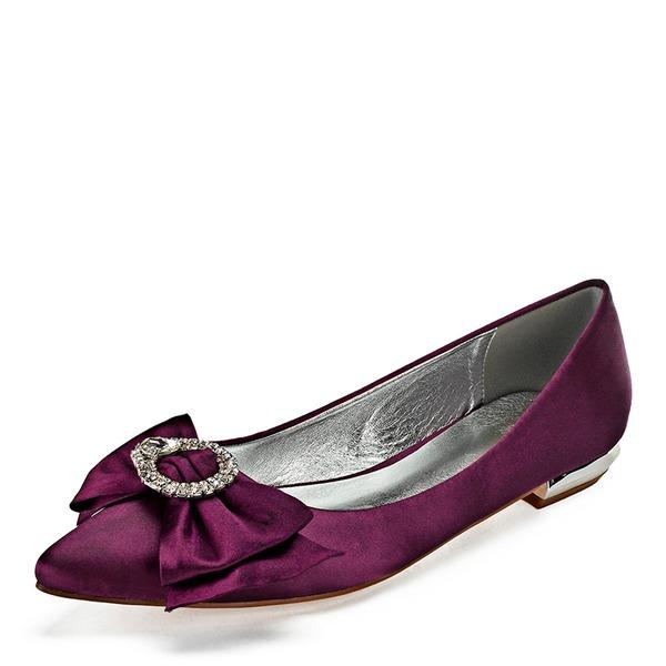 Vrouwen Kunstleer Flat Heel Closed Toe Flats met strik