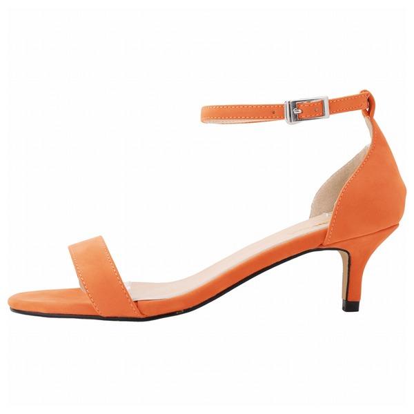 Frauen Veloursleder Niederiger Absatz Sandalen Peep Toe Schuhe