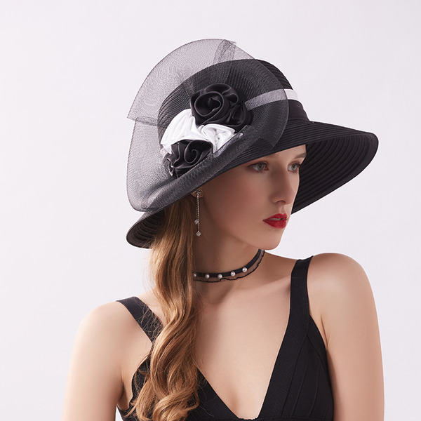 Ladies' Elegant/Fancy Satin With Tulle Beach/Sun Hats/Kentucky Derby Hats/Tea Party Hats
