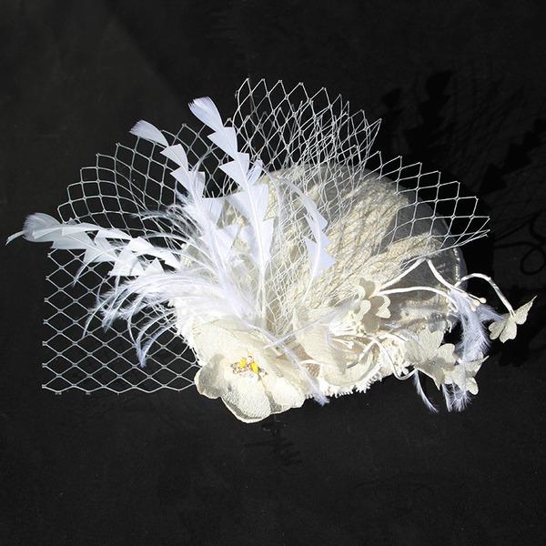 Damen Glamourös Baumwolle mit Feder/Blume Kopfschmuck