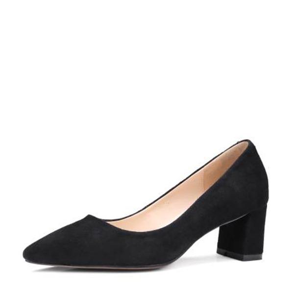 De mujer Piel Tacón ancho Salón Cerrados con Otros zapatos