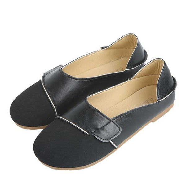 Women's Suede Flat Heel Flats Closed Toe With Split Joint shoes