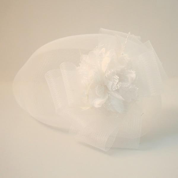Dámy Krásný Net příze/Silk Flower Čelo šperky/Klobouk
