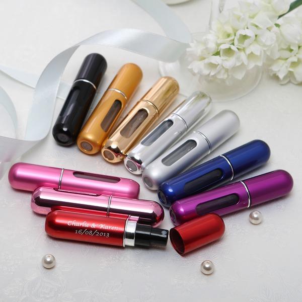 personnalisé Forme de capsule En alliage de zinc Bouteille de parfum (Lot de 4 couleurs mélangées)