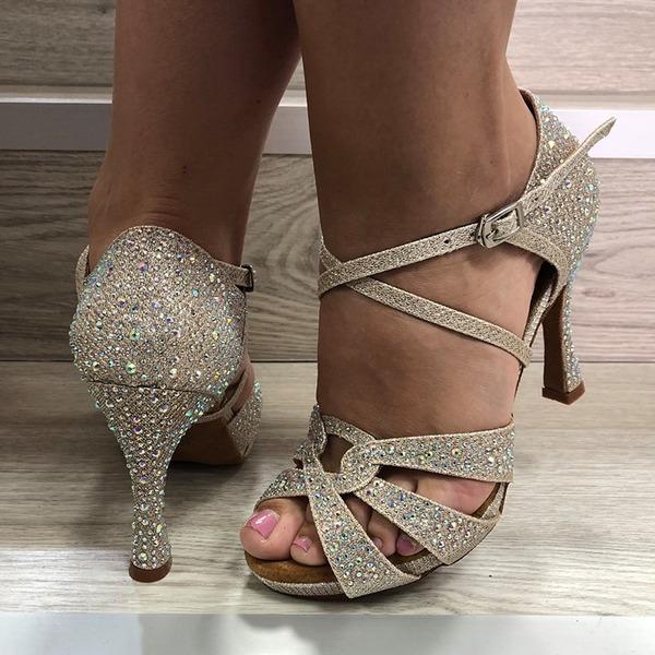 Donna Similpelle Tacchi Latino con Strass Scarpe da ballo