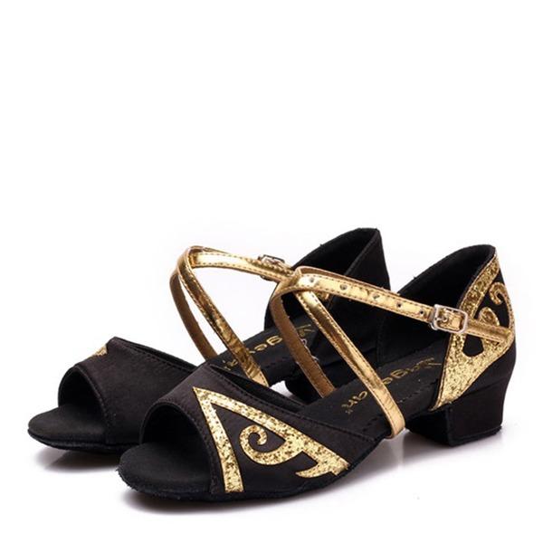 De mujer Cuero Planos Danza latina Zapatos de danza
