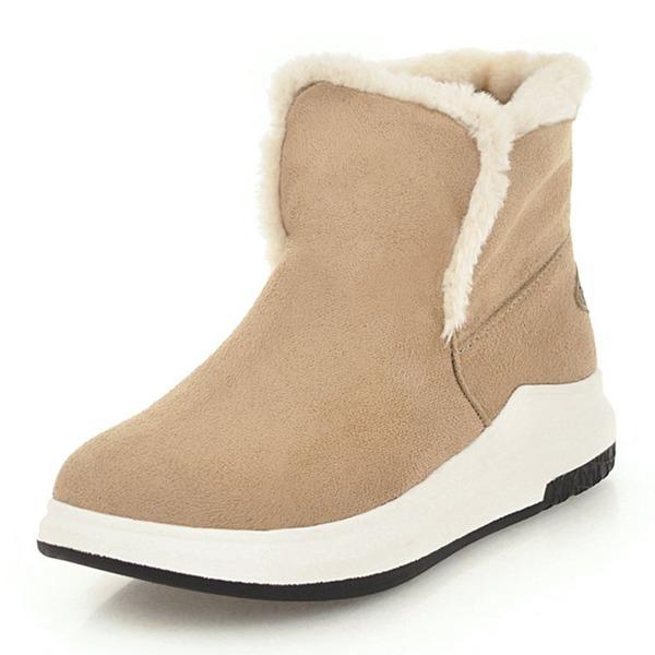 Kvinner Semsket Flat Hæl Kiler Støvler Ankelstøvler sko
