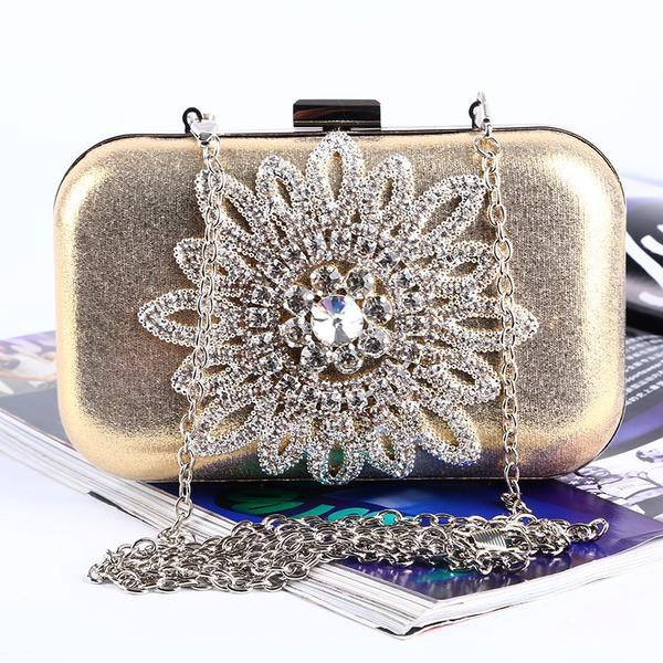 Lovely Crystal/ Rhinestone/PU Clutches/Satchel