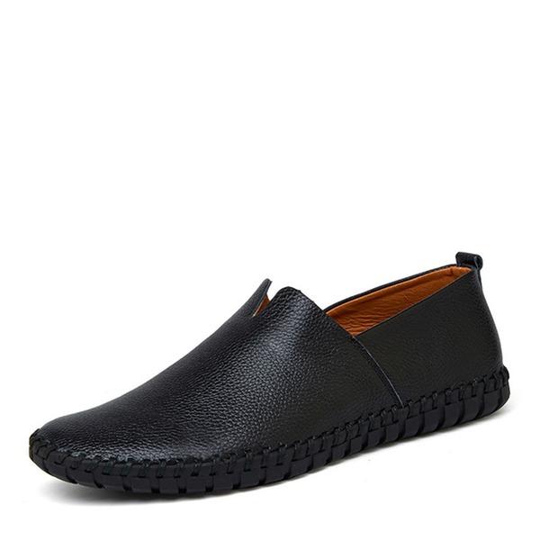 Menn Egte Lær Munk-stropper Avslappet Loafers til herre