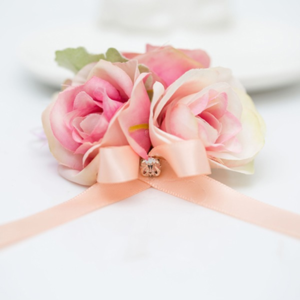 Pretty Satin/Fabric Wrist Corsage (Sold in a single piece) -